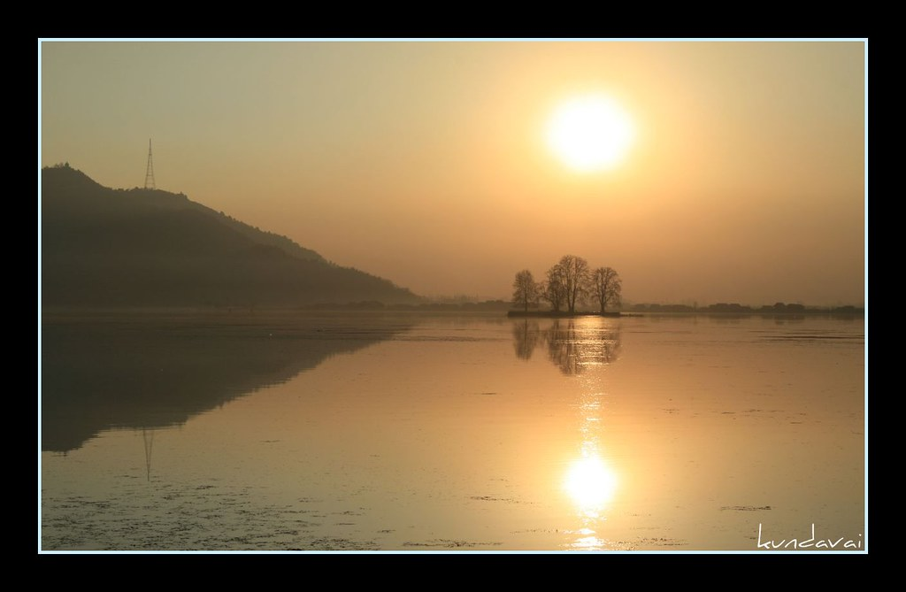 Dal lake during sunset