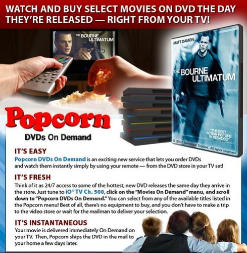 Popcorn DVDs on Demand