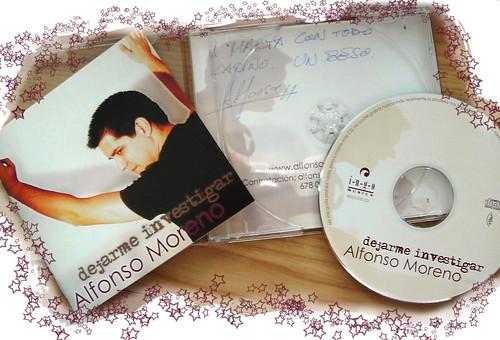Disco firmado de Alfonso Moreno