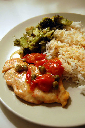 Chicken Escalopes with Tomatoes and Capers