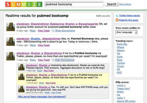 Pubmed Bootcamp - Summize Search