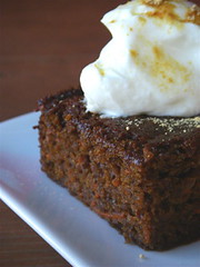 Ging-Molasses-Carrot Cake with yogurt