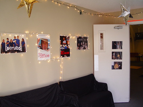 Foyer with parody posters