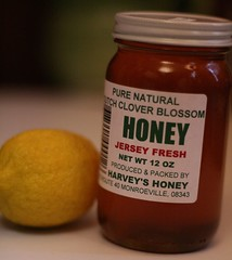Local honey and a lemon