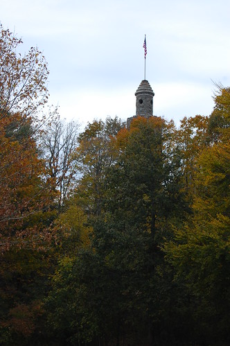 The view of the tower from the road