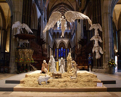 Nativity scene and altar, Salisbury Cathedral
