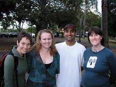 Monica, Sally, Sugath, Carmen