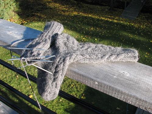 Log Cabin Socks...in progress