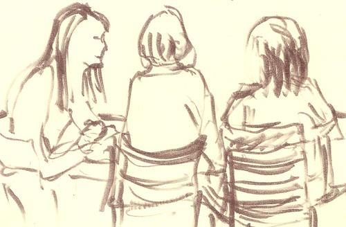 Ladies having coffee at Peets