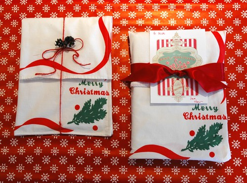 Green (and red) gift wrap