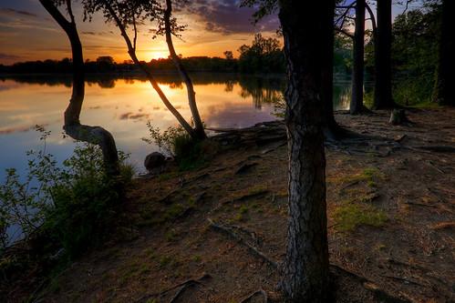 Sunset at Fiske Pond