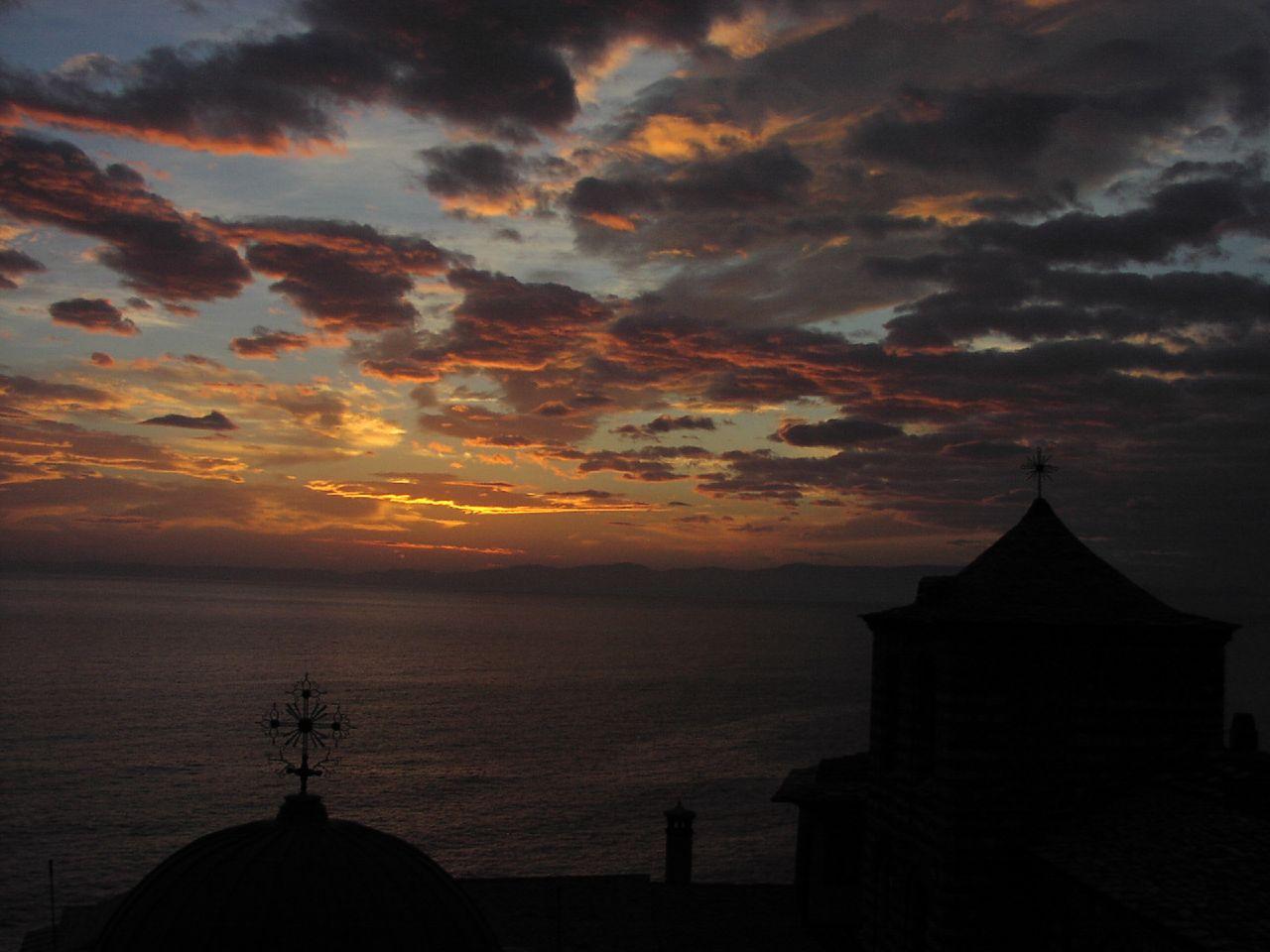 Sunset in Agio Oros,Greece