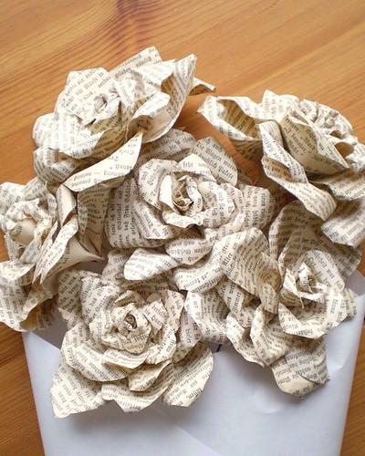 Etsy smilemercantile Antique German Books Paper Roses Flowers