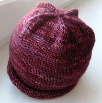 blueberry hat FO