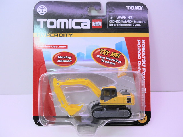 tomica tomy komatsu power shovel