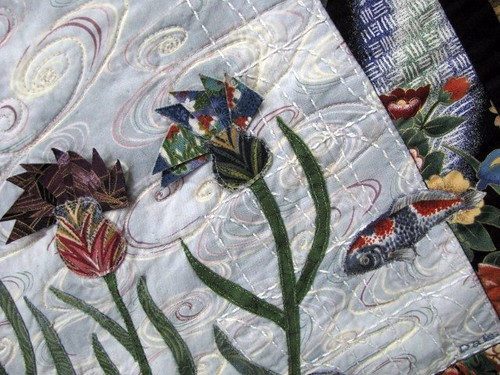 We Are the World Nancy Semich The Fabric Stalkers May Gallery Exhibit @Quiltworks