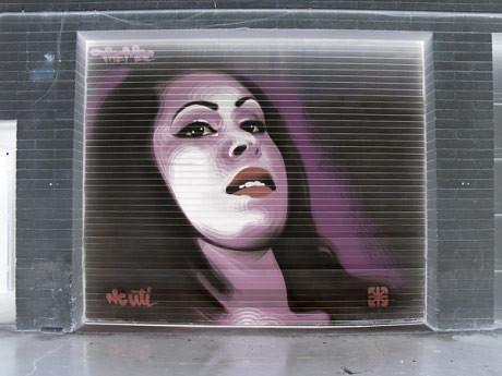 Graffiti de Mac con colores invertidos