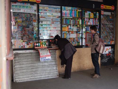 Kiosk in Krakau, Polen