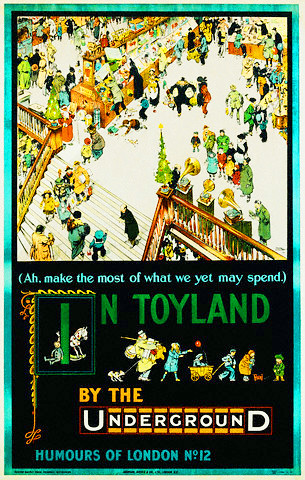 In Toyland by the Underground Poster by Tony Sarg