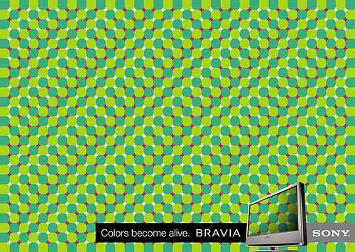 Sony Bravia Color 02 Optical Illusion