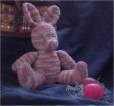 * Crocheted bunny - I love this one, its so cute!  :)