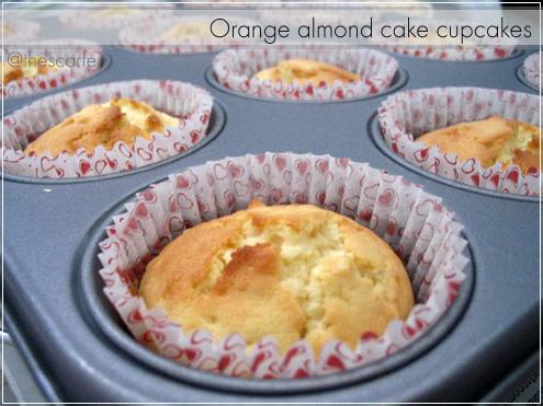 Orange almond cake cupcakes