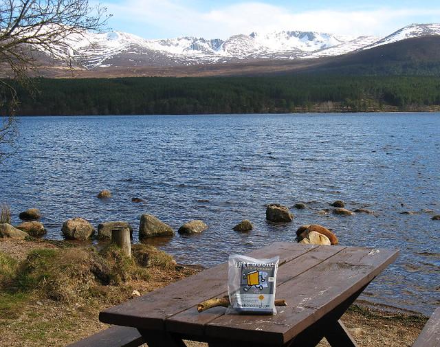 Bookcrossing at Loch Morlich