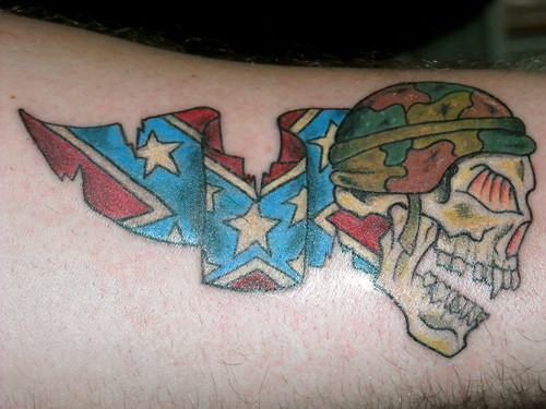 Confederate Skull Tattoo by IKE 09. From IKE 09