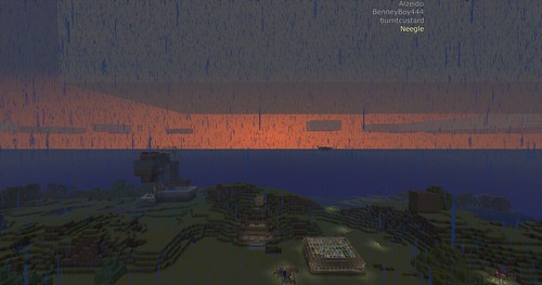 Minecraft - Wet sunrise