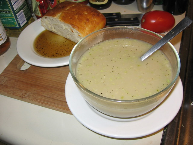 Cabbage/cucumber soup