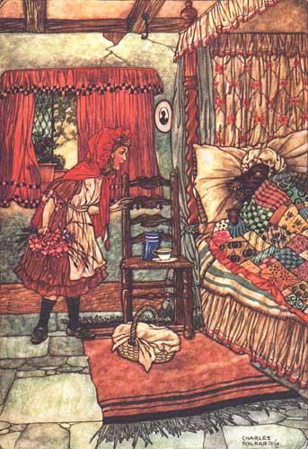 Caperucita Roja según los Hermanos Grimm. (4/6)