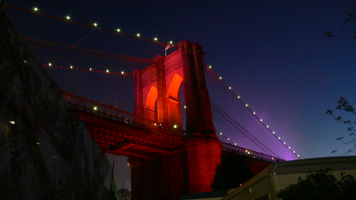 Brooklyn Bridge all gussied up to party!