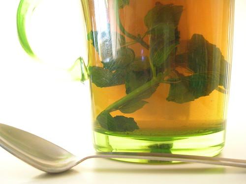 Té verde con hierbabuena
