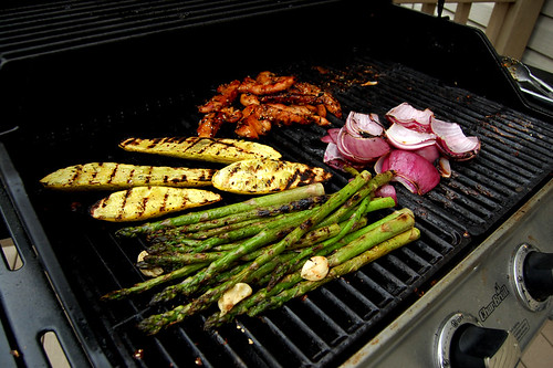 Step 1. Throw some chicken, squash, onion, asparagus, whatever on the grill.