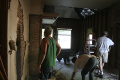 Patriot Guard working on Living Room