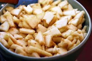 vanilla brown butter pear crisp