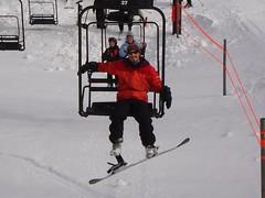 Steve on ski lift