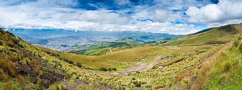 Panorama vom Pinchincha aus