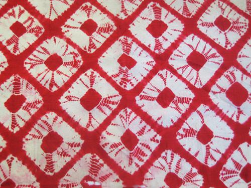 red shibori