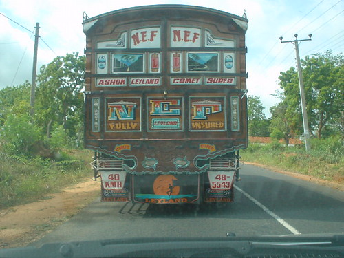 Truck art from Sri Lanka's dry zone the traditional style