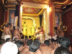 At the end of the Thirumanjanam