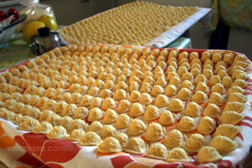 The army of Orecchiette - Little Ears pasta