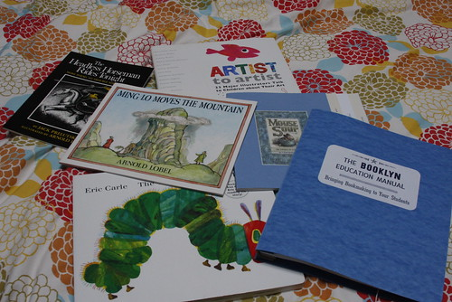 Books purchased at the Eric Carle Museum