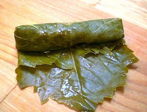 Yabra W/ Tri Tip Roast (Stuffed Grape Leaves)