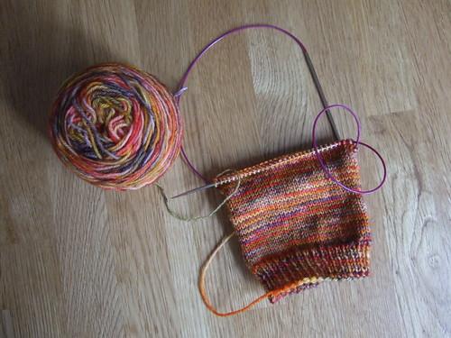 red pesto socks progress
