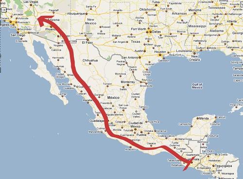 Ruta Guatemala-Estados Unidos
