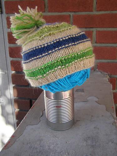 scrap-happy mountain mohair hat