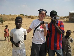 KTJ Saleh filming and Mohamed sound guy