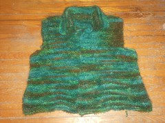 Garter Stitch Jacket - sleeveless