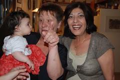 Clara, Olga and Sari at Seder